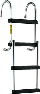 Garelick EEz-In Removable 4 Step Folding Pontoon Boarding Ladder