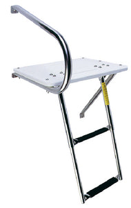 Garelick EEz-In Transom Platform With 2 Step Telescoping Ladder For Boats With Outboard Motors
