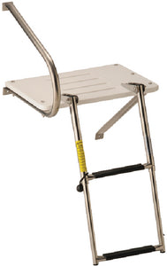 Garelick EEz-In Swim Platform With 2 Step Telescoping Ladder For Boats With Outboard Motors