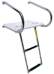 Garelick EEz-In Transom Platform With 2 Step Telescoping Ladder For Boats With I/O Motors