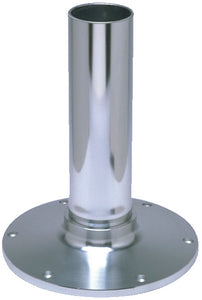 "Garelick EEz-in Fixed Height 2.875"" Seat Base, Smooth Stanchion, Satin Anodized Finish"