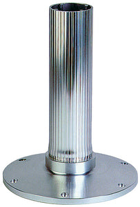"Garelick EEz-in Fixed Overall Height 2.875"" Seat Base, Ribbed Stanchion, Satin Anodized Finish"