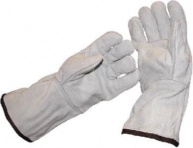 Long Cuff Leather Safety Gloves