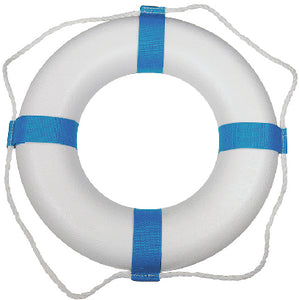 "Taylor 25"" Decorative Ring Buoy, White/Blue (Not a Life Saving Device)"