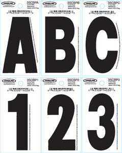 "3"" Dyer Font™ Number, Black ""5"", 10 Pack"