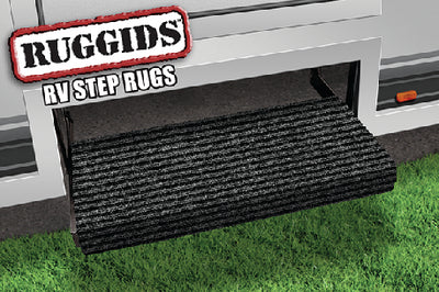 "Prest-O-Fit Ruggids RV Step Rug, 23"" Wide, Black"