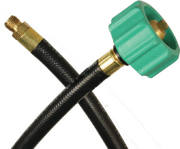 "JR Products RV Rubber Pigtail Hose with 1/4"" Male Inverted Flare End"