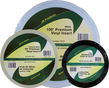 JR Products Vinyl Insert - Premium, 50' White