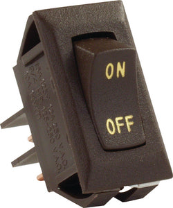 JR Products Labeled 12V On/Off Switch, Brown