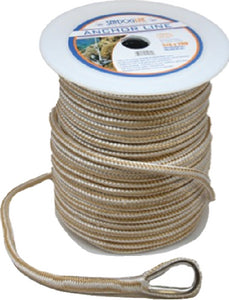 "Sea Dog Premium Double Braided Nylon Anchor Line Gold/White, 1/2"" + 60'"