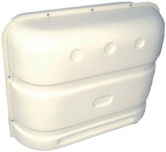 Icon Technologies 00385 White Standard RV Propane Tank Cover