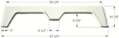 Icon Technologies 00390 Double FS310A White RV Fender Skirts