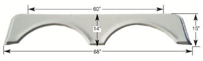 Icon Technologies Double FS668 White RV Fender Skirts