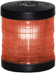 Aqua Signal 25004 Series 25 Classic 12V Navigation Light For Power or Sail Boats Up to 39', All-Round Red Deck Mount, Black