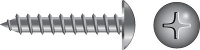Phillips Tapping Screw - Truss Head<BR>#10 x 1/2""