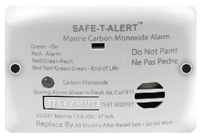 Seachoice 46361  62 Series Carbon Monoxide Detector, Flush Mount