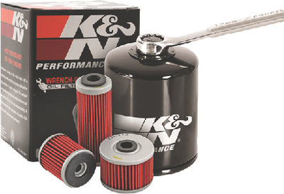 K&N KN170 Black Wrench-Off Performance Gold Oil Filter for HD 80-14