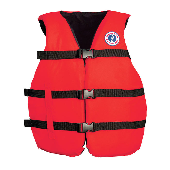"Mustang Universal Fit PFD Vest - Adult Super Large 40-60"" - Red"