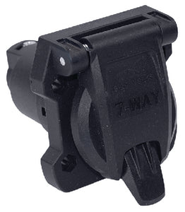 7-Way Round RV Style Trailer Connector<BR>Car Side