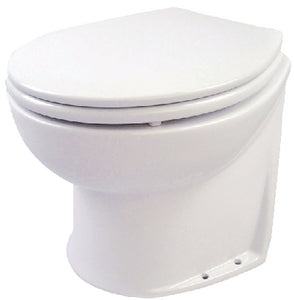Deluxe Straight Back Electric Flush Toilet w/Raw Water Rinse