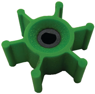 Jabsco 6303-0007-P Replacement 6 Blade Green Polyurethane Impeller