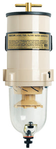 Racor 90 GPH Turbine Fuel Filter/Water Separator w/Clear Bowl, 2 Micron