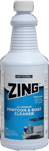 Zing Aluminum Pontoon & Boat Cleaner, Qt., 12/Case