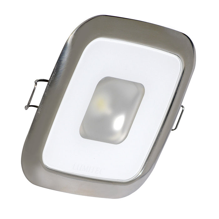 Lumitec Square Mirage Down Light - White Dimming, Red/Blue Non-Dimming - Polished Bezel