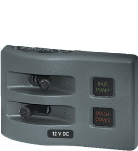 Blue Sea Systems 4302 WeatherDeck 12V DC 2 Position Waterproof Fuse Panel, Gray