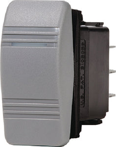 Blue Sea 8232 Water Resistant Contura<sup>&reg;</sup> III Switch&#44; Gray&#44; On-Off-On