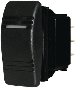 Blue Sea 8290 Water Resistant Contura<sup>&reg;</sup> III Switch&#44; Black&#44; (On)-OFF-(On)