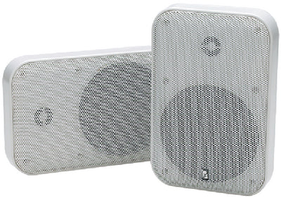 "Poly-Planar MA905 5"" Waterproof Platinum Panel 2-Way Speaker, White (Sold as Pair)"