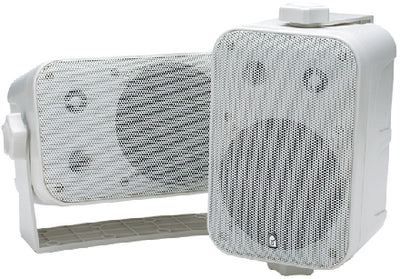 "Poly-Planar MA9060 5-1/4"" Waterproof 100W Box Speakers, White (Sold as Pairs)"