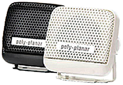 "Poly-Planar MB21B Waterproof VHF Extension Speakers Surface Mount 8W 2-15/16"" x 2-3/4"", Black"