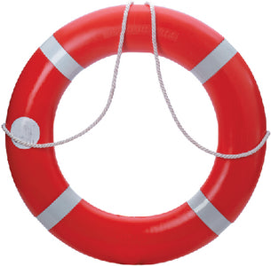 "Dock Edge Dolphin Hardshell Life Ring Buoy SOLAS 30"" Orange"