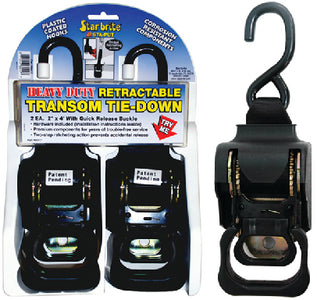 "Sta-Put 60428 2"" Heavy Duty Retractable Tie Downs (2 Per Pack)"
