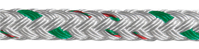 "XLS Yacht Braid, White/Green, 5/16"" x 500'"