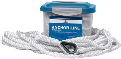 Samson Pro-Set-3 Nylon Anchor Line, White With Red and Green Tracers