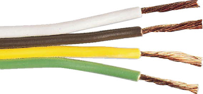 18-4 Parallel Green/Yellow/Brown/White 100'