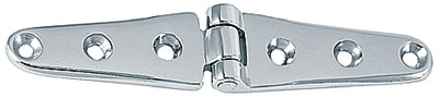 "6"" Strap Hinges Chrome Plated Brass, Pr."