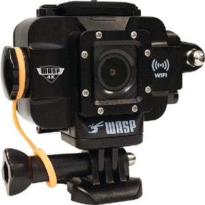 "Cobra Wasp 9907 WASPcam Black Wi-Fi Waterproof 1.5"" LCD Screen LED Light 4K/24fps 20 MP 4K Action Camera"