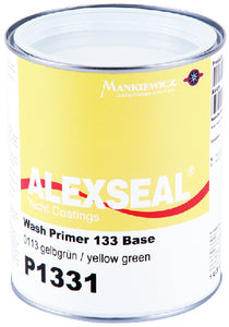 Alexseal Wash Primer 133, Base Material , Yellow, Qt.