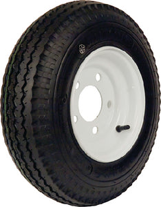 Loadstar Bias Tire and Wheel (Rim) Assembly K353 530-12 5 Hole 6 Ply White, Conventional