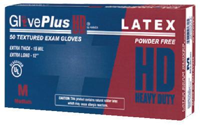 GlovePlus HD Medical Blue Latex Gloves - 13 mil