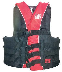 TWEEDLE PFD L/XL RED/BLK