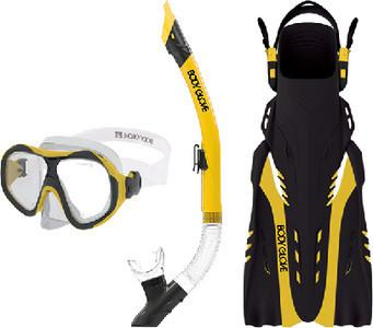 Body Glove Aquatic Enlighten II Mask Snorkel and Fins Set