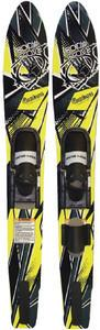 Body Glove Contour Adult Wide Body Water Skis Combo (Yellow/Black