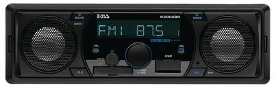 BOSS Audio Systems 630UASB Single-DIN Mech-Less Receiver