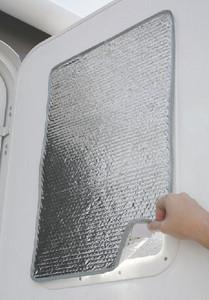 Camco SunShield Reflective Door Window Cover- Helps Protect Your R