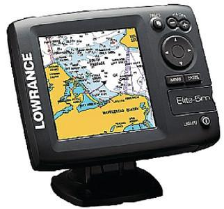Lowrance 103-001 Elite 5-Inch Color LCD GPS/Chartplotter with Navionics